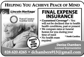 denise chambers lincoln heritage life ad jpg